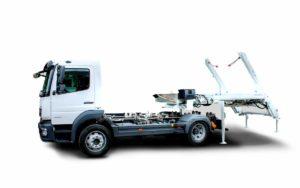 Skipploader ATRIK type SN83 lifting capacity of 8.5 tonnes with interchangeable upgrade