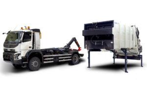 Garbage truck ATRIK type R2P with interchangeable upgrade